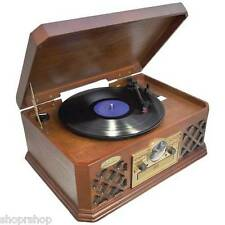 PYLE PTCD4BT Retro Style Turntable with Bluetooth NEW