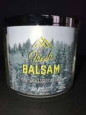 Bath and Body Works 3 Wick Scented Candle FRESH BALSAM 14.5 oz