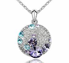 Halskette Glas Anghänger Strass SWAROVSKI Kristall Kristalle edel Rhodium Steine