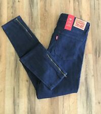 New! Levi's 711 Short Skinny Jeans Women's Size 28 Mid Rise Dark Denim Pants $59
