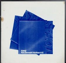 Tofas 1977-78 Export Markets Corporate Sales Brochure In English 124 131