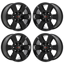 "17"" GMC SIERRA 1500 BLACK WHEELS RIMS FACTORY OEM 2015 2016 2017 2018 SET 4 5654"