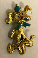 Vintage Poodle Dog Pins With Hand Painted Details - Metal