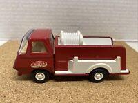 "Vintage Tonka Fire Pump Truck Red  Pressed Steel Metal 5 1/2"" GUC 1970's Utility"
