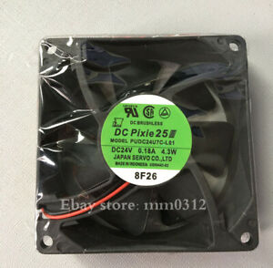 1pcs  SERVO PUDC24U7C-L01 24V0.18A 4.3W 8025 inverter fan