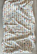 Pottery Barn Kids Cars Buses Fitted Crib Sheet Toddler Bed Sheet