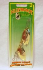 Hildebrandt Size 3.5 Slim Eli Double Spinner Gold Fishing Lure Trolling