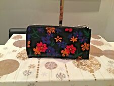 New PS By Paul Smith Leather Floral Design Zipped Wallet.