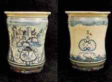Albarello vaso da farmacia ceramica maiolica - manifattura Napoli '700 n.5