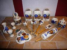 Vorratsgefäße, Keramik, Salz, Zucker, Mehl, Landhausstil mit Blumenmalerei