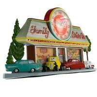 COCA-COLA Wall Hanging Coke Clock Family Drive-In Burwood 3D Hot-Rods