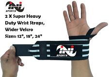 Super Heavy duty wrist wraps weight lifting body building power training straps