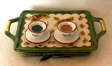 Tray with Coffee☕ & Croissants � Authentic Rochard Limoges Box
