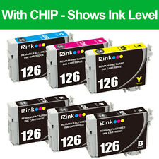 6PKs Remanufactured 126 Ink Cartridges For Epson WorkForce WF-3520 WF-3530