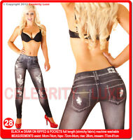 New Low High Rise Ladies Leggings Ripped Skinny Leg Pants Jeggings Jeans