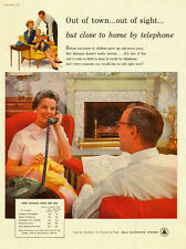 1957 vintage AD, Bell Telephone System with Long Distance Rates  -022814