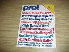 1977 Oakland Raiders v Los Angeles Rams Football Program Preseason Game 9/9