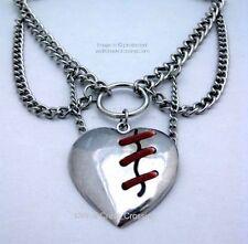 MEND A BROKEN HEART CHOKER STYLE NECKLACE - HEAVY CHAIN - LOST LOVE - FREE SHIP*