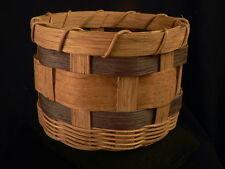 BASKET VTG SIGNED Splint Basket Katie Eyrise Fish Creek 2002- Estate FOLK ART