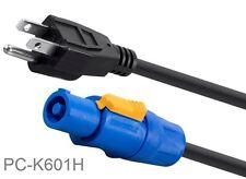 1.5ft 3-Prong NEMA 5-15P to Neutrik PowerCON® 16AWG AC Power Cord, PC-K601H