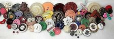 100 Assorted Buttons, Bakelite, Glass, Shell, Metal, Moonstone, Fabric, Lot  22