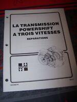 GA Manuel Hyster Transmission Powershift 3 vitesse H17.00-32.00C H20.00-32.00F