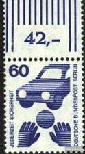 Berlin (West) 409A Oberrandstück postfrisch 1971 Unfallverhütung