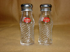Double Cola Clear Glass Salt & Pepper Shaker Set