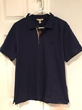 e0008bbbf2c NWT Burberry Brit Men s Dark Ultramarine Blue Nova Check Polo Shirt Size  Large