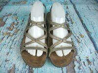 Dansko Jovie Pewter Metallic Leather Strappy Sandals Shoes Women's Size: 41 / 11