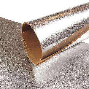 Pelle Vacchetta Argento Metallizzato 3,2 MM Craquele Effetto Vera Pelle 221
