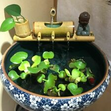 Bamboo Tube Water Fountain Trough Filter Recycling Feng Shui Desktop Decoration