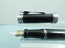 More details for c1990 vintage harley davidson gloss black fountain pen, ct, box