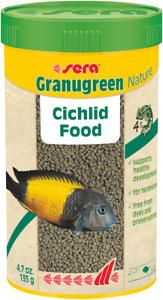 135g Sera Granugreen Nature Veggie Pellets 250mL Cichlid Aquarium Tank Variety