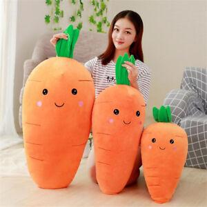 Cartoon Carrot Stuffed Plush Toy Cushion Doll Vegetable Soft Pillow Xmas Gift K1