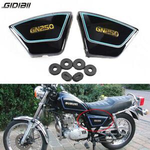 Right & Left Black Frame Side Cover Panels For Suzuki GN250 1982-2001 1983 1985