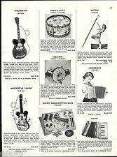 1956 ADVERT Jaymar Toy Pianos Amenee Accordions Mickey Mouse Guitar Band Mattel