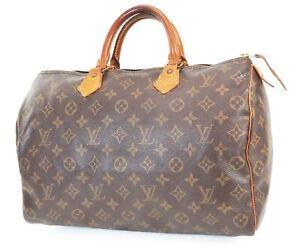 Authentic LOUIS VUITTON Speedy 35 Monogram Boston Handbag Purse #39034