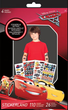 SandyLion Disney Pixar Cars 3 Stickerland Pad 4PGS 110 Stickers/26 Tattoos