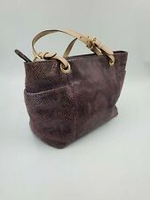 MICHAEL KORS JET SET PURPLE SNAKE PYTON EMBOSSED PRINT LEATHER TOTE SHOULDER BAG