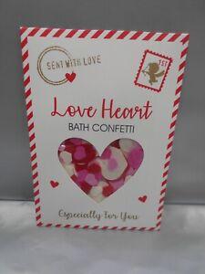 LOVE HEART BATH CONFETTI - ROMANCE RED PINK & WHITE - TREAT HER PAMPER