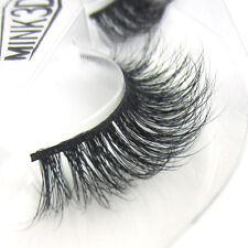 1Pair Luxurious 100% Siberian Mink Fur Messy Thick Eye Lashes 3D False Eyelashes