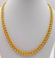 AUTHENTIC FLEXIBLE LOTUS DESIGN 22 K YELLOW GOLD LINK CHAIN NECKLACE GIFTING