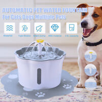 2.6L Automatic USB Electric Pet Water Fountain Cat/Dog Drinking Dispenser UK K