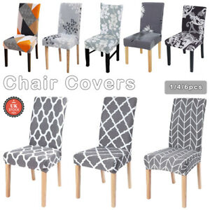 1-6X Dining Chair Covers Stretch Washable Removable Protective Stretch Covers UK