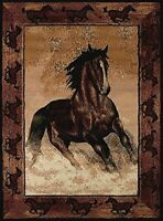 "United Weavers Legends Area Rug 910-06930 Stallion Border 5` 3"" x 7` 2"", Rect..."