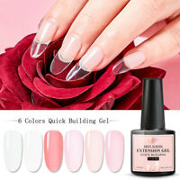 6Colors MEET ACROSS Poly Extension Nail Gel Set Tips Manicure Builder DIY Kit US