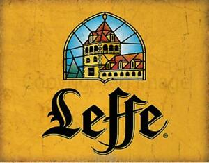 Leffe Beer Belgium VINTAGE PUB BAR METAL TIN SIGN POSTER WALL PLAQUE