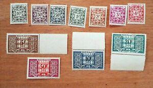 MONACO TAXE Yt N° 29 / 38a 1946 Neufs MNH ch354