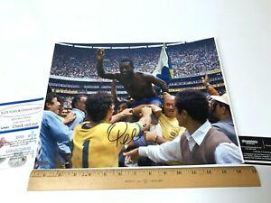Pele Hand Signed 11x14 Photo Soccer Brazil  Autographed With COA